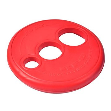 Rogz Flying Object Dog Throwing Disc Toy - Red
