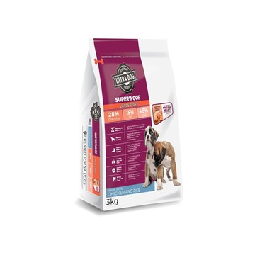 Ultra Dog Superwoof Puppy Large Breed Chick & Rice (New Formula)