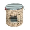 Wagworld Kitty Castle Bed (Round) - Blue Stripe