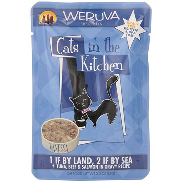 Weruva Cats in the Kitchen 1 by Land & 2 by Sea Pouches for Cats