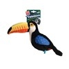 GIGWI Plush Tropicana Toucan Toy with Squeaker