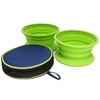 Olly & Max Collapsible Pet Travel Bowls in Bag (Medium)