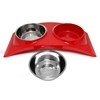 Olly & Max Medium Rainbow Dinner Set (Red) - Profile View