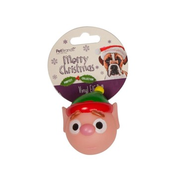 Pet Brands Vinyl Elf Ball Toy for Dogs